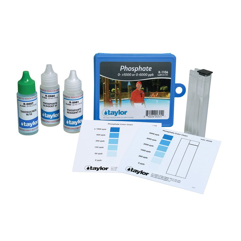 Taylor commercial phosphate test kit k 1106 - Phosphate levels in swimming pools ...