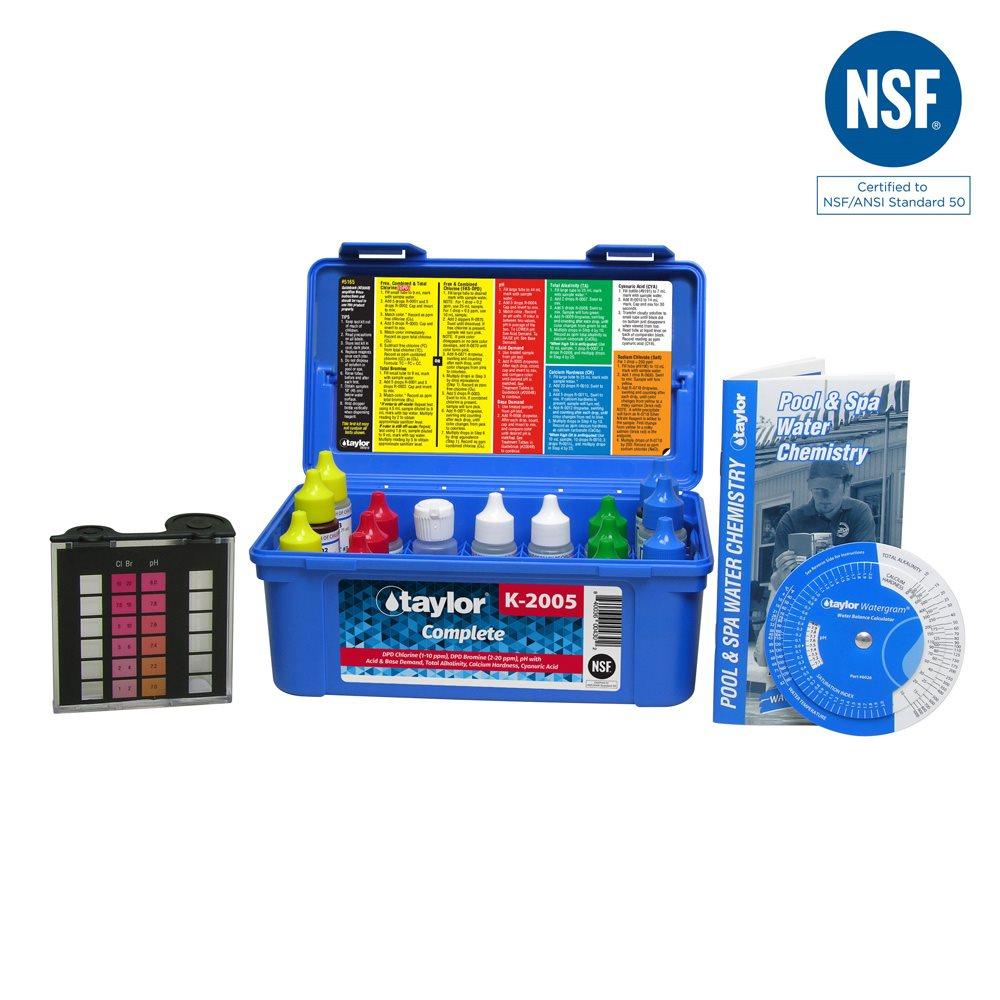 Taylor complete test kit high range k 2005 for Swimming pool test kits amazon
