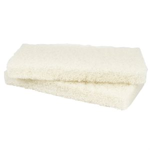 Mr. Scrubber Replacement Pads, Light Duty White