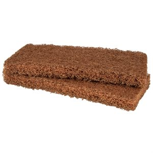 Mr. Scrubber Replacement Pads, Heavy Duty Brown