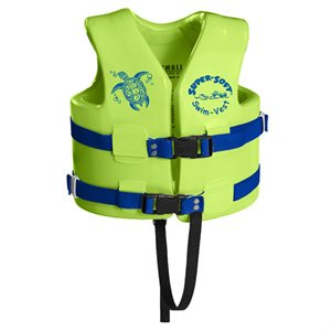 Super Soft Safety Vest, Childrens Small, Kool Lime Green