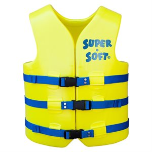 Super Soft Safety Vest, Yellow, Adult Extra Large