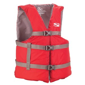 Adult General Purpose Type III Life Vest, Red, Universal