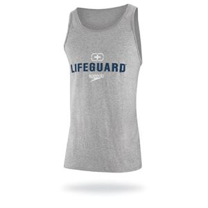 Speedo Lifeguard Tank, Gray, Large
