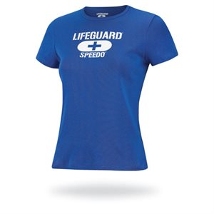 Speedo Women's Lifeguard Tee, White, Medium