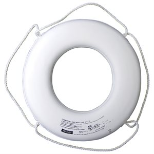 USCG Approved Ring Buoy, White, 24""