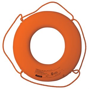 USCG Approved Ring Buoy, Orange, 24""