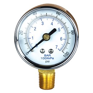 Pressure Gauge Steel Case 2""
