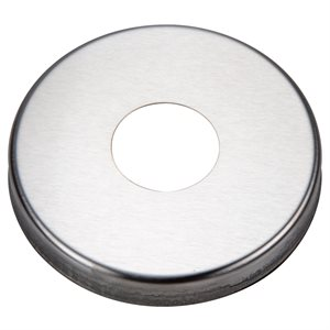 "Escutcheon Plate, Round Stainless for 1.5"" Rail"