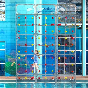 Kersplash Climbing Wall, Crystal Clear, 8 Ft Tall, 16 Ft Wide