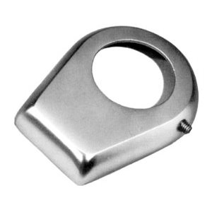 "Escutcheon Plate, Keyhole Style, Chrome Plated Bronze for 1.9"" Rail"