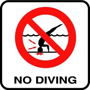 "8"" x 8"" Vinyl Symbol Stick-On, No Diving"