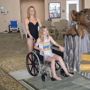 Aqua Creek Stainless Steel Folding Aquatic Wheel Chair, 18 in.