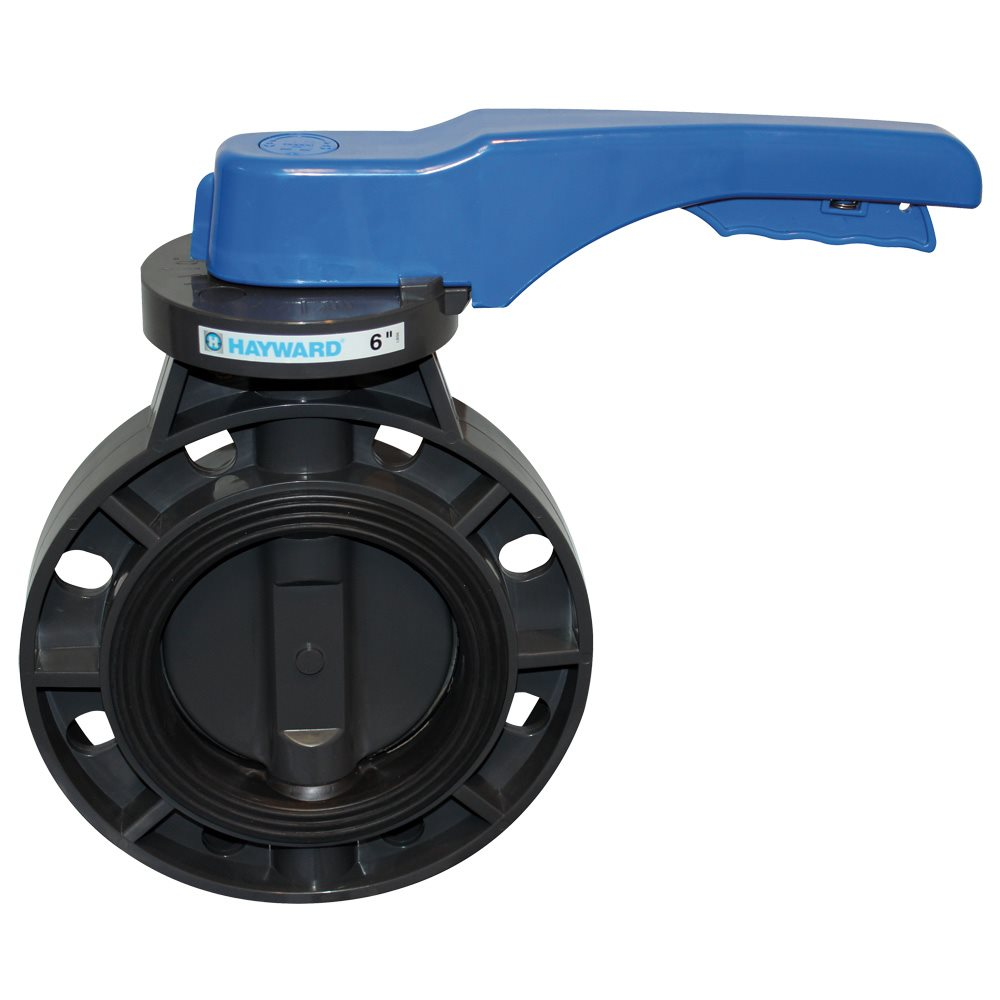 Lever Butterfly Valve : Hayward byc butterfly valve lever operated quot