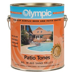 Olympic Patio Tones FIVE GALLON, White
