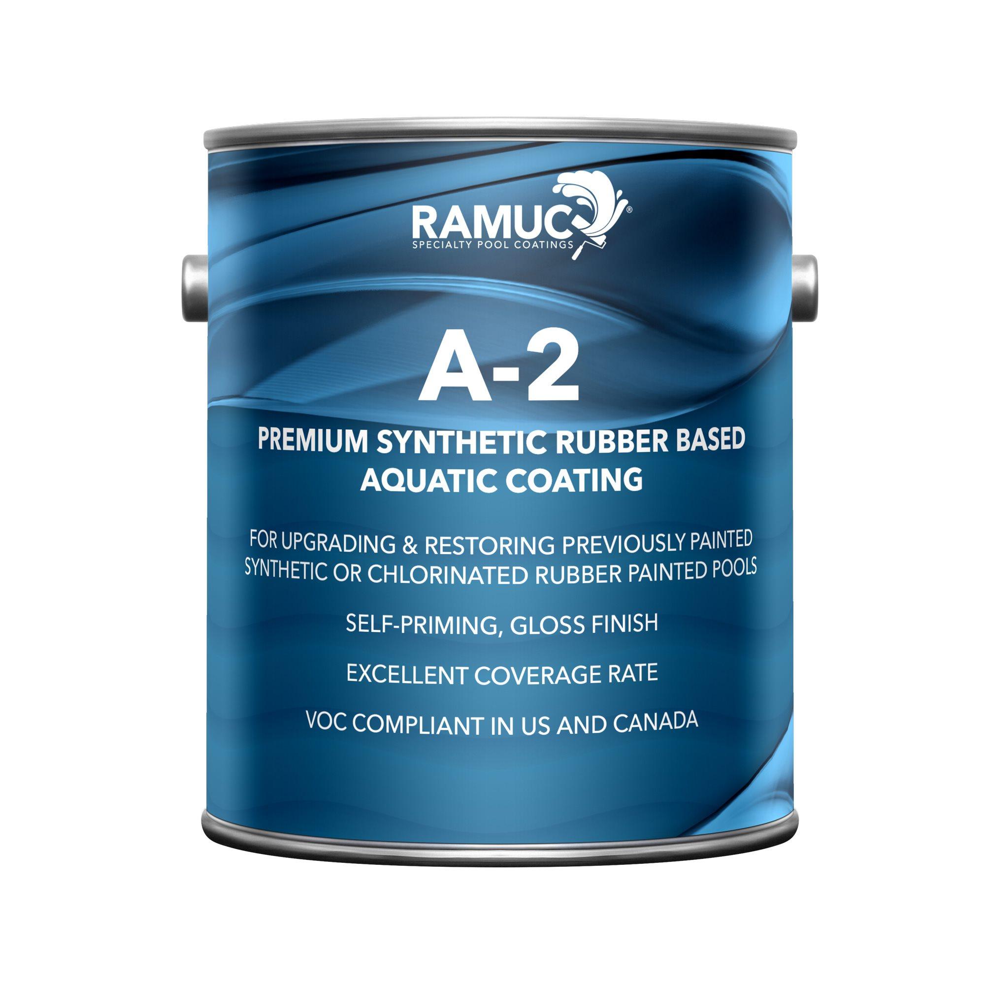 Ramuc Type A 2 Rubber Pool Paint Gallon Black