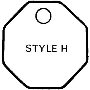 Checking Tags - Brass Style H, Plain (100)