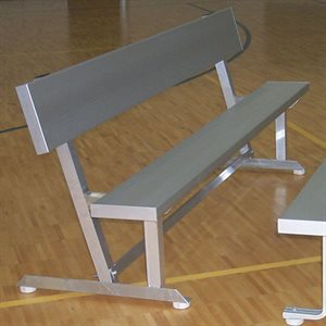 Aluminum Bench with Backrest, Indoor, 12 ft.
