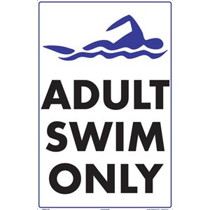 "Sign - Adult Swim Only 12"" x 18"""