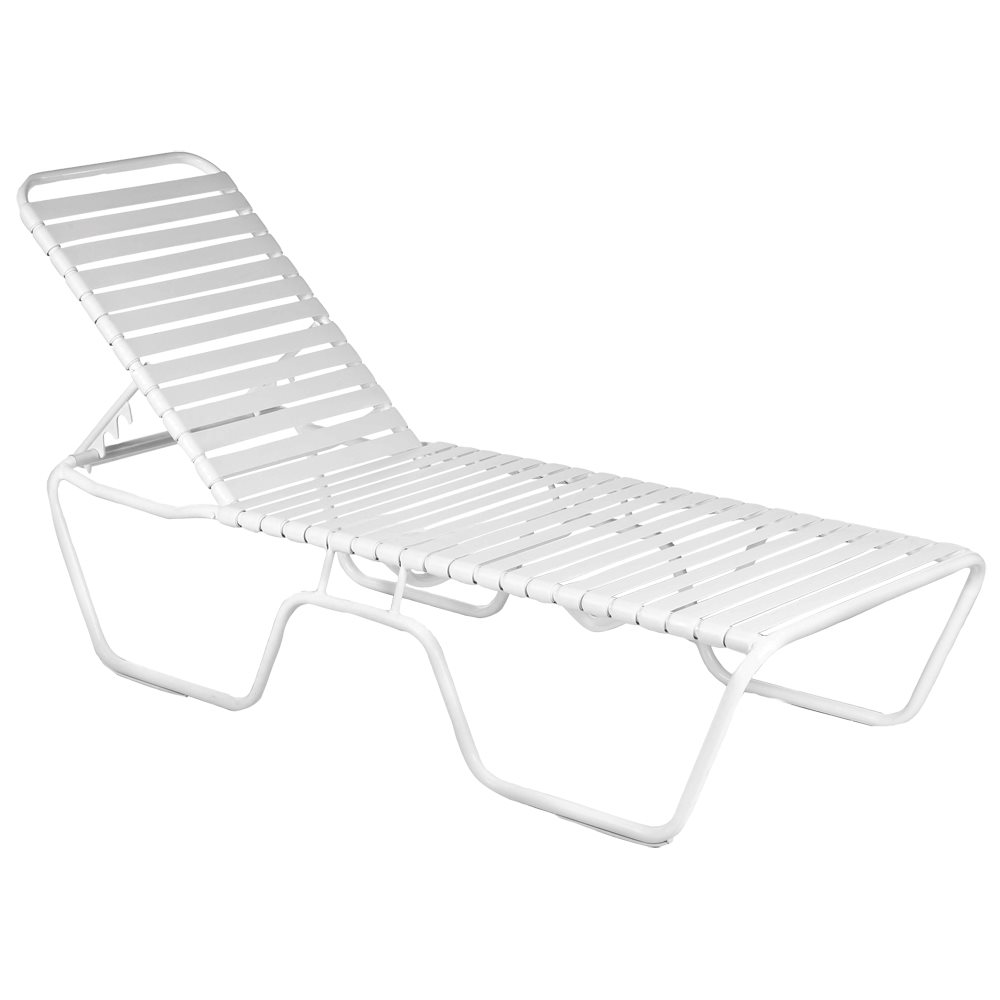 Country club economy stacking chaise lounge for Aluminum commercial stack chaise lounge