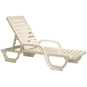 Bahia Chaise Lounge, Sandstone, Case of 18