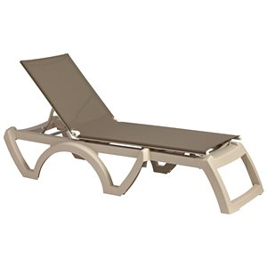 Calypso Sling Chaise, Sandstone Frame, Taupe Sling, Case of 16