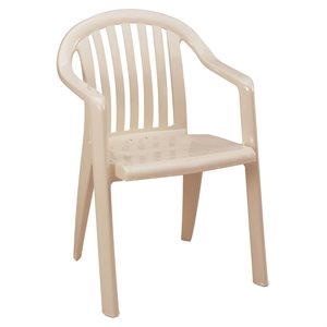 Stackable Chair, Miami Low Back, Sandstone, Case of 16