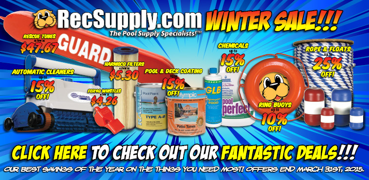 RecSupply - The Commercial Pool Supply 2015 Winter Sale