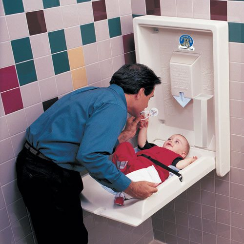Baby Changing Station - Commercial bathroom baby changing table