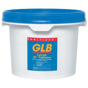 "GLB 71231A Chlorine Tablets 3"", Individually Wrapped, 50 lbs."