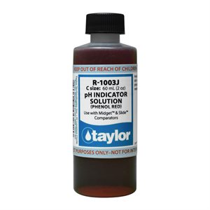 Taylor Reagent 2 oz., R-1003J-C (Phenol Red) CLEARANCE Exp. 2 / 21