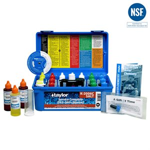 Taylor Service Complete FAS-DPD Test Kit plus Salt Test - Chlorine K-2006C-SALT