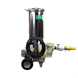 Electric Commercial Filter Vacuum, 1 HP, 105 Sq Ft Filter Area