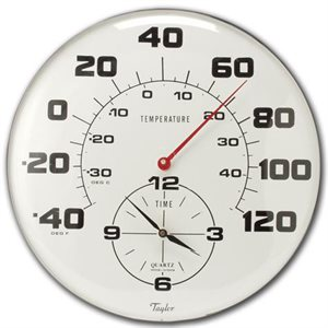 "18"" Thermometer / Clock Combo"