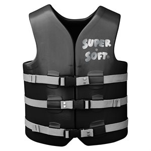 Super Soft Safety Vest, Black, Adult Extra Large