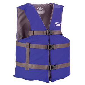 Adult General Purpose Type III Life Vest, Blue, Oversize
