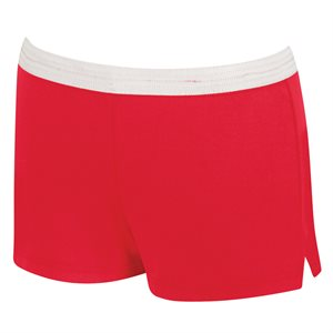 Speedo Women's Roll Top Short, Red, Small