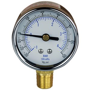 Combination Gauge Steel Case 2""