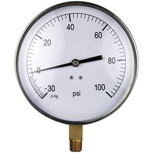 Combination Gauge Steel Case 4.5""