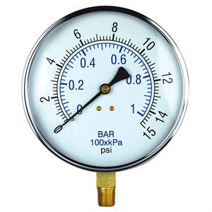 Vacuum Gauge Steel Case 4.5""
