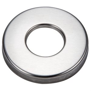 "Escutcheon Plate, Round 304 Stainless for 1.9"" Rail"