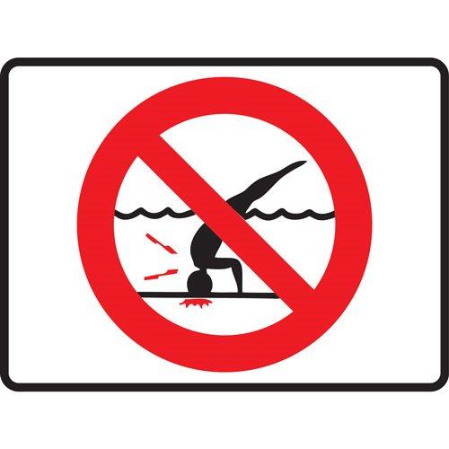 4 25 Quot X 5 5 Quot Plastic Symbol Stick On No Diving