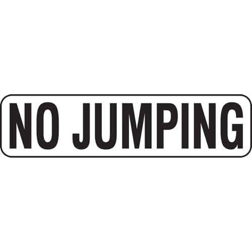 "6"" Vinyl Message Stick-On - NO JUMPING"
