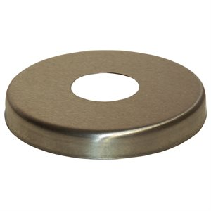 "Paragon 28303 Escutcheon, Stainless Steel, Round, for 1.5"" O.D. Rail"