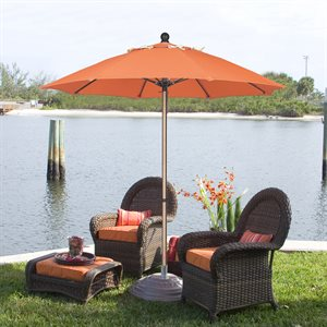 Fiberbuilt Fiberglass Ribbed Market Umbrella, 7-1 / 2', Push-Up Style