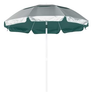 Umbrella - Solar Reflective 6 ft., Silver / Forest Green
