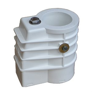 Anchor Socket, White Plastic