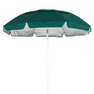 Umbrella - Solar Reflective 6 ft., Forest Green / Silver