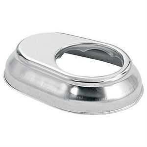 "Escutcheon Plate - Keyhole Style, Stainless for 1.9"" Rail, SR Smith EP-100A"