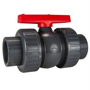 "American Granby PVC True Union Ball Valve 2.5"", Slip"